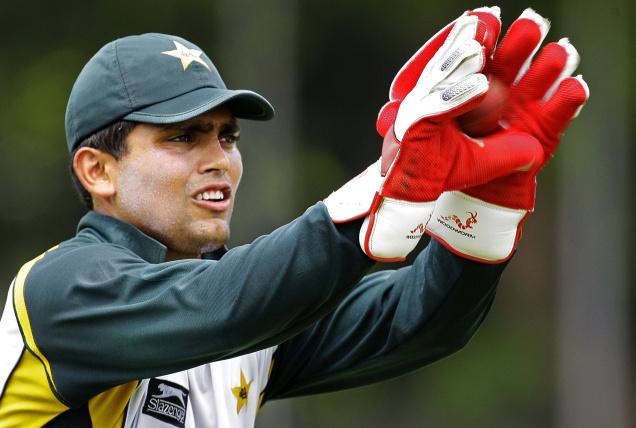 Kamran Akmal Catching a Ball
