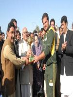 Riaz Afridi Receiving Winner Cup