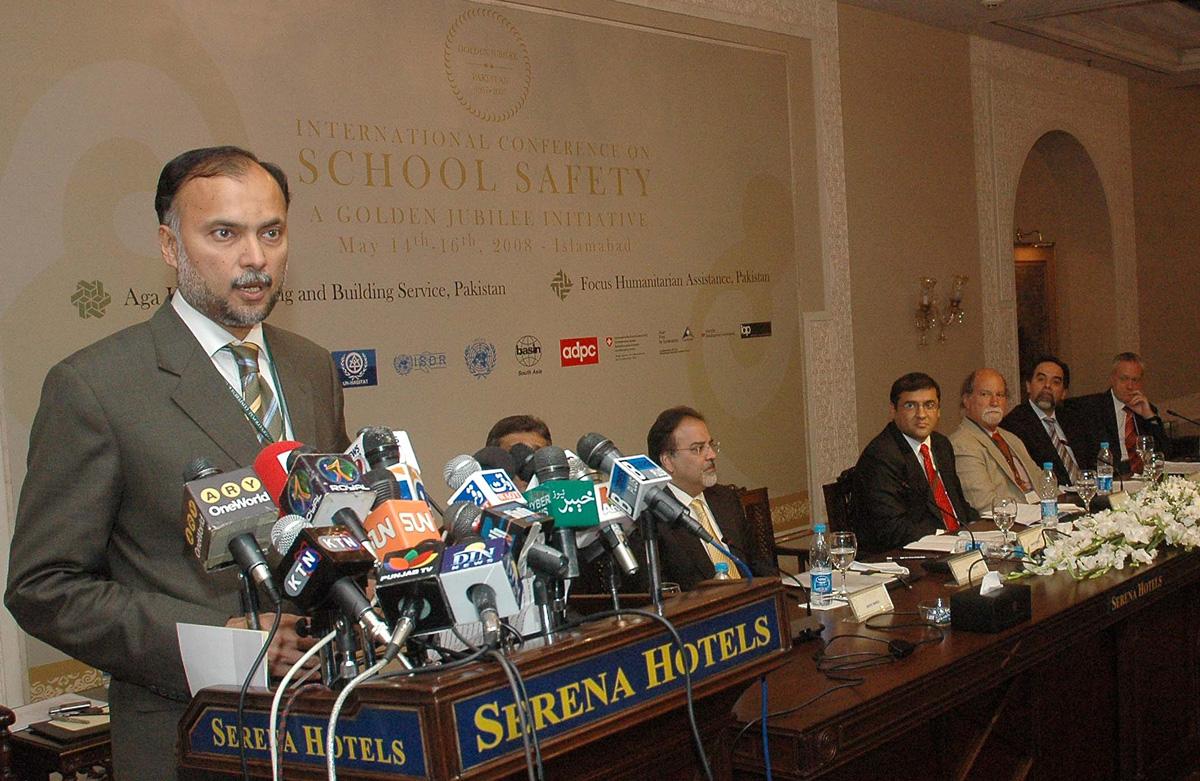 Ahsan Iqbal at Serena Hotel