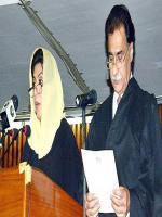 Sardar Ayaz Sadiq taking Oath