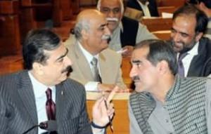 Khawaja Saad Rafique with Gillani