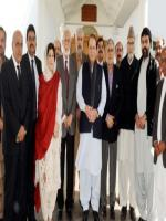 Rasheed Ahmad Khan with party members