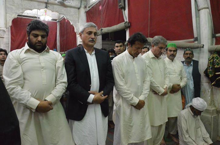 Makhdoom Shah Mahmood Hussain Qureshi with Imran Khan