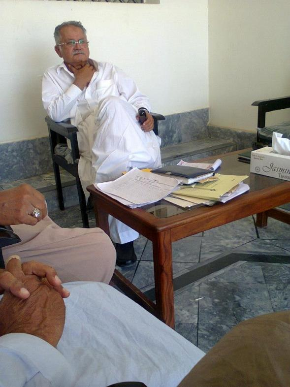 Sardar Muhammad Amjad Farooq Khan Khosa durring Elections