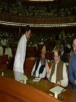 Hafiz Abdul Kareem with Nawaz Sharif