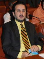 Sardar Awais Ahmad Khan Leghari in Assembly