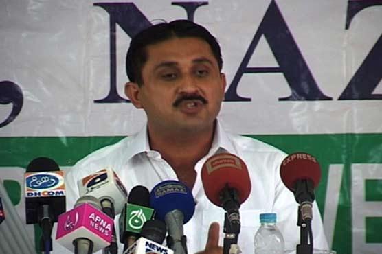 Jamshed Ahmad talks to media