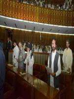 Sahibzada Faiz Ul Hassan Taking Oath