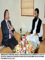 Muhammad Baligh Ur Rehman with Ambassador