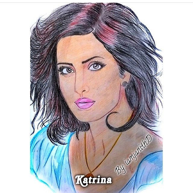 pencil art of katrina kaif