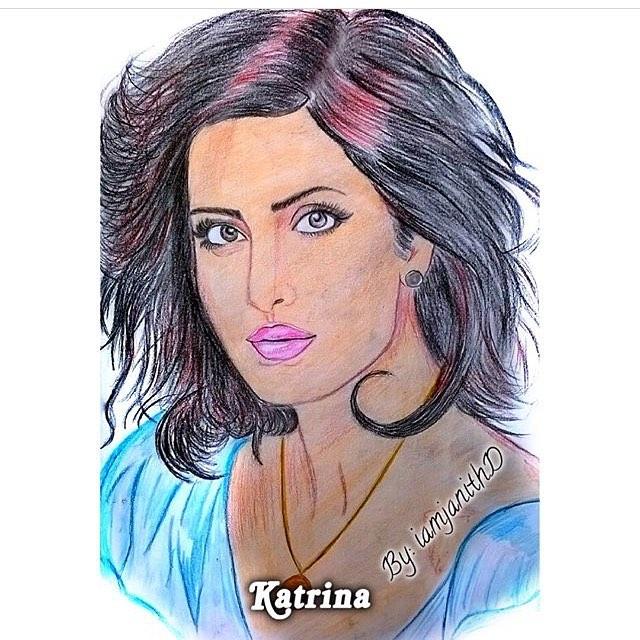 pencil art of katrina kaif