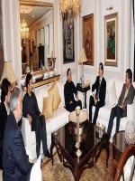 Makhdoom Syed Mustafa Mehmood with President