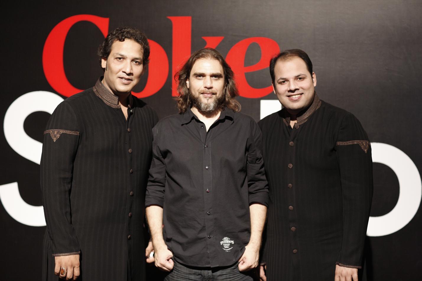 Rohail Hyat with Rizwan and Moazam