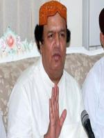 Muhammad Ayaz Soomro answering to media
