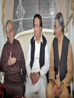 Muhammad Ayaz Soomro with party members