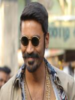 Dhanush Wear Black Glass and Gold Chain