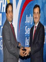 Aijaz Hussain Jakhrani Distributing Awards