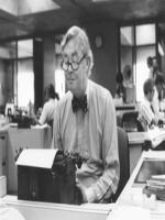 Daniel Patrick Moynihan at office