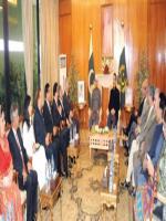 Ehsan ur Rehman Mazari with President