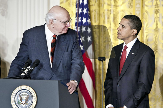Paul Volcker with Obama
