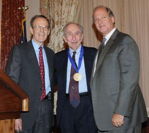 Max Kampelman Medal receiving