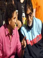 Sachin Tendulkar With Amitab Bachan