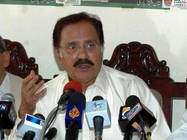 Makhdoom Muhammad Ameen Fahim Answering to Media