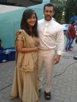 Salman Khan on the set of Prem Ratan Dhan Payo (