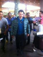 Salman khan is back to India from Poland