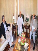 Syed Naveed Qamar Shah with Qaim Ali Shah