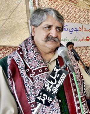 Syed Naveed Qamar Shah Addressing to People