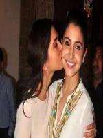 deepika kiss Anushka Sharma in party