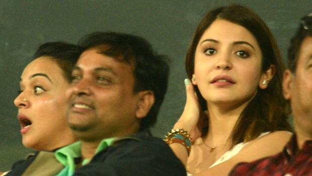Anushka Sharma watching cricket
