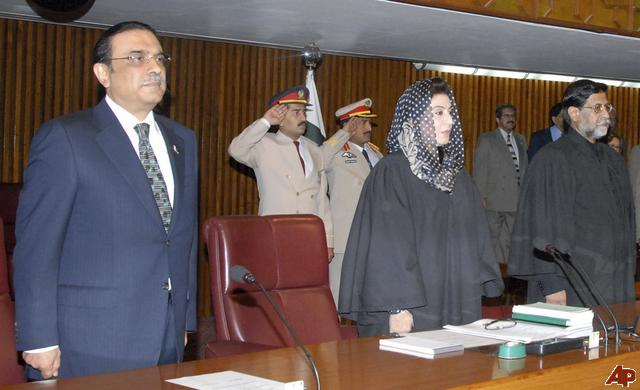 Dr. Fehmida Mirza with Asif Ali Zardari