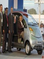 Narendra Modi Driving Tata Nano