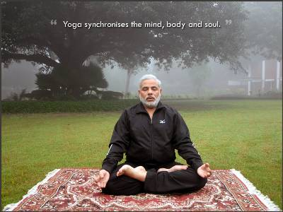 Narendra Modi doing Yoga