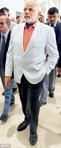Narendra Modi in suits