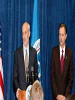 R. David Paulison with Michael Chertoff