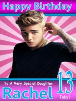 Justin Bieber Birthday Card