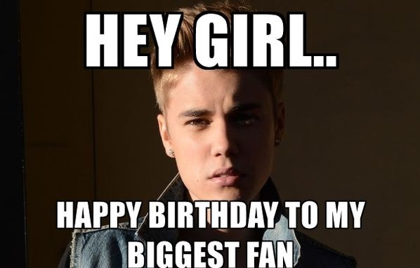 Justin Bieber Birthday meme