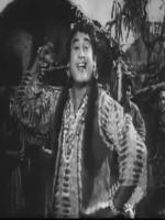 Kishore Kumar in female dress in Movie Half Ticket