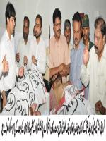 Sufyan Yousuf with Dead Bodies of Party Members