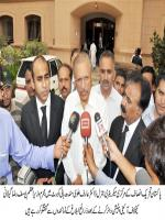 Arif Alvi Answering to media