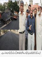 Iqbal Muhammad Ali Khan with Development Work