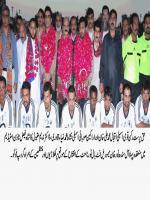Iqbal Muhammad Ali Khan with football Players