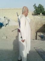 Mehmood Khan Achakzai in his Area