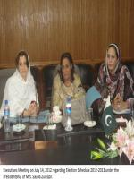 Sajida Begum in Meeting