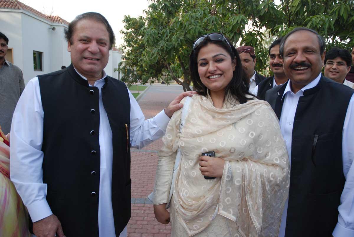 Zeb Jaffar with Nawaz Sharif