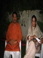 Khalida Mansoor with Rao Imran