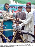 Maiza Hameed in Child Protection Ceremony